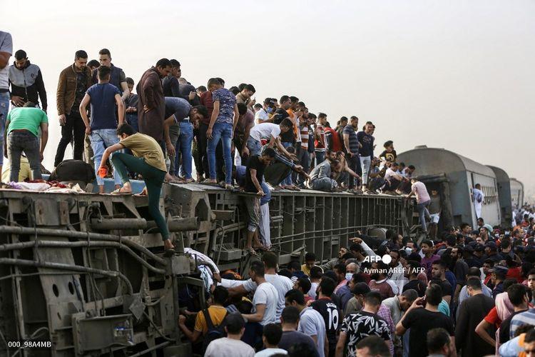 Kecelakaan Kereta Api Terbaru di Mesir Tewaskan 11 Orang Halaman all - Kompas.com