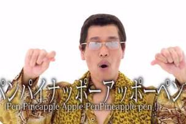 Lagu PPAP (Pen Pineapple Apple Pen) yang viral di media sosial.