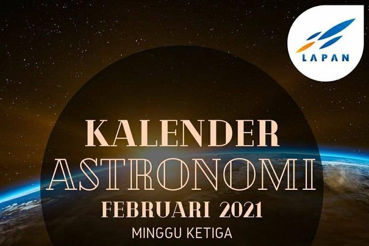 Kalender astronomi Lapan, minggu ketiga Februari 2021