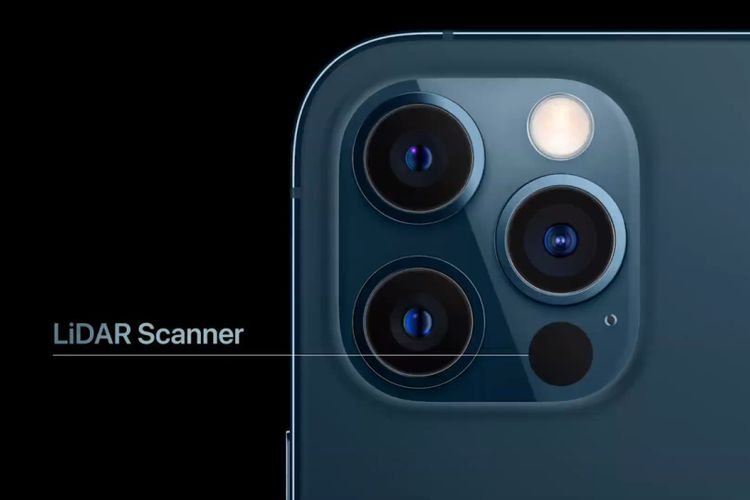 Sensor LiDAR di iPhone 12 Pro dan iPhone 12 Pro Max.