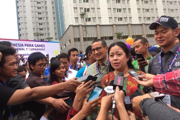 Sandiaga Uno dan Puan Maharani Cek Kesiapan Kamar Atlet Asian Games di Wisma Atlet Kemayoran, Rabu (4/7/2018)