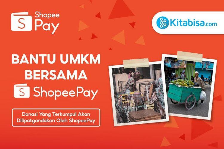 Program Gerobak Mapan hasil inisiasi ShopeePay dan Kitabisa.com dalam membantu UMKM di masa pandemi.