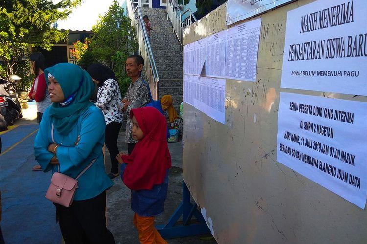 Kekurangan kuota siswa, Dinas Pendidikan Kabupaten Magetan memperpanjang pendaftaraan peserta didik baru PPDB 2019/2020 dengan tanpa menerapkan zonasi.