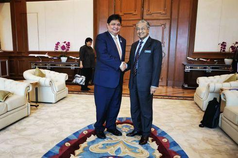 Airlangga Bahas Sawit dengan Mahathir Muhammad