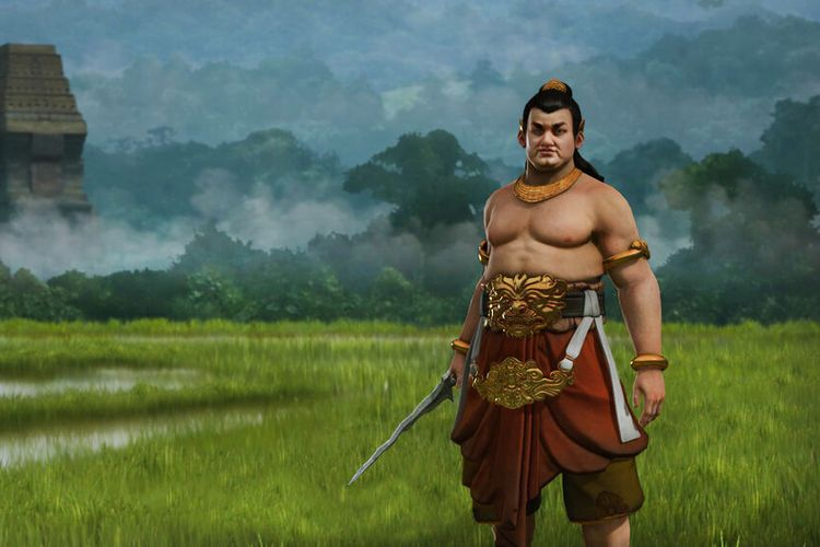 Ilustrasi Gajah Mada dalam game Civilization V