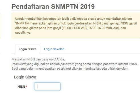 Diperpanjang Lagi, Pendaftaran SNMPTN 2019 Gunakan Sistem Ganjil-Genap