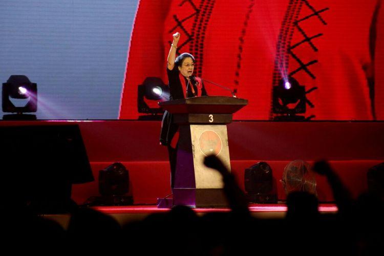 Ketum PDI-P Megawati Soekarnoputri di peringatan HUT ke-46 PDI-P