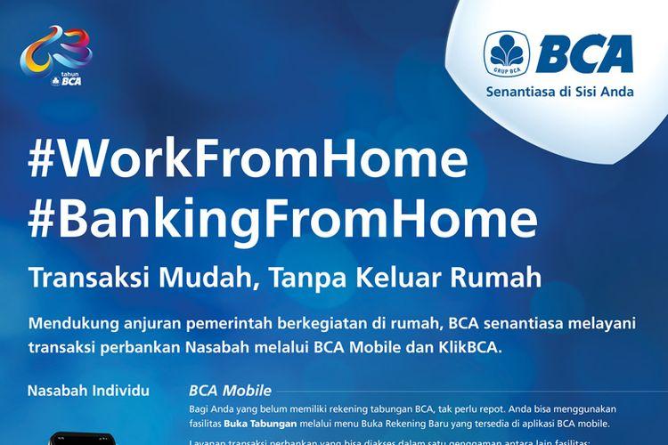 BCA Mobile dan KlikBCA Individual bantu nasabah lakukan transaksi harian tanpa harus keluar rumah.