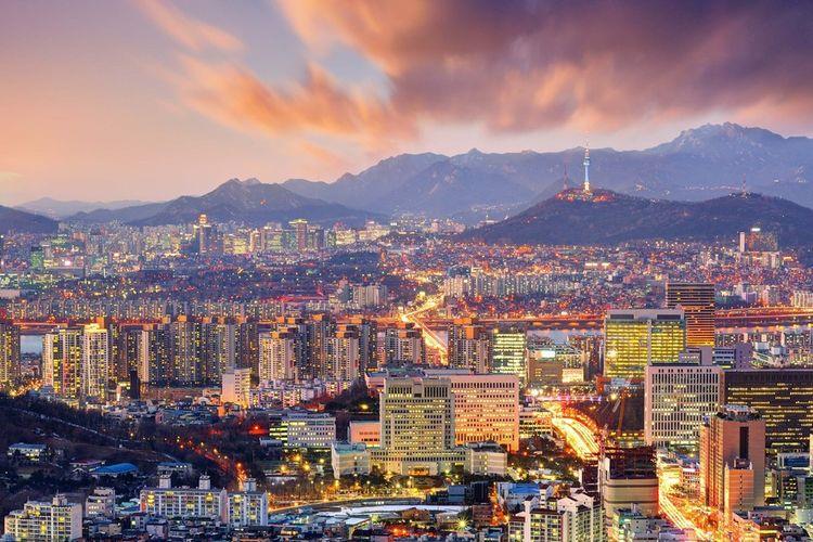 Pemandangan Kota Seoul, Korea Selatan.