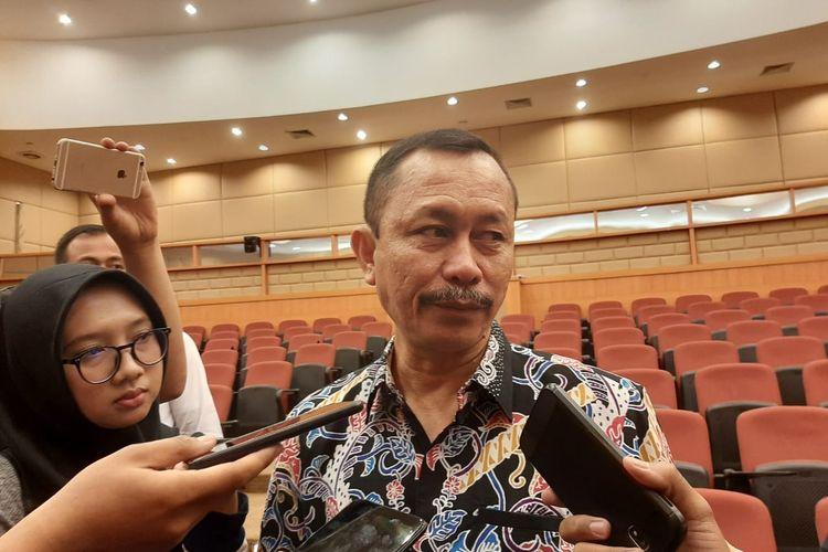 Ketua Komnas HAM Taufan Damanik di DPR, Jakarta, Selasa (10/12).