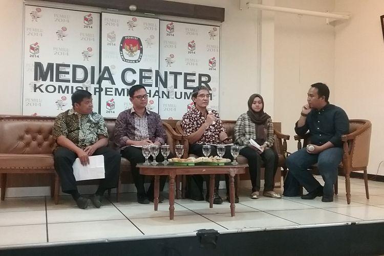 Diskusi Komisi Pemilihan Umum (KPU) mendesak pemerintah segera mengundangkan Undang-undang Pemilu, Jakarta, Jumat (4/8/2017).
