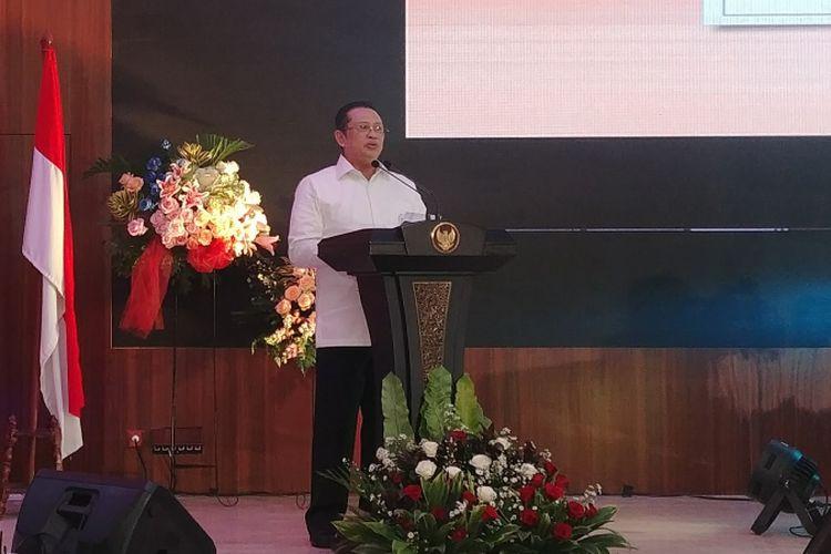 Ketua DPR Bambang Soesatyo dalam seminar nasional Kebijakan dan Koordinasi Bidang Maritim untuk Kesejahteraan Nelayan di Gedung BPK RI, Senin (19/3/2018).