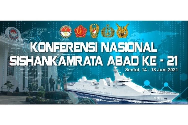 Konferensi Nasional Sistem Pertahanan dan Keamanan Rakyat Semesta (Sishankamrata) Abad ke- 21 digelar di Aula Merah Putih Kampus Unhan RI, Kawasan Indonesia Peace and Security Center (IPSC), Sentul, Bogor, Jawa Barat pada 14-18 Juni 2021.