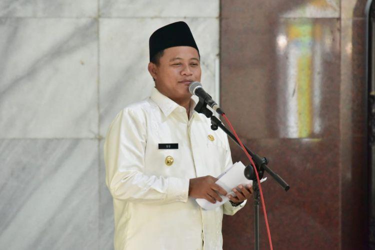 Wakil Gubernur Jawa Barat, Uu Ruzhanul Ulumsaat hadir dalam acara Safari Ramadhan 1440 Hijriah di Masjid Agung Al Fathu, Soreang, Kabupaten Bandung, Rabu (22/5/2019).