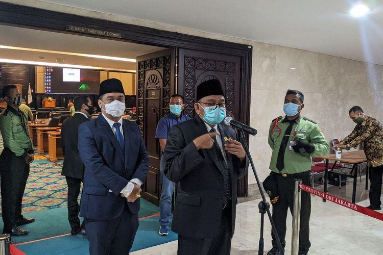 Wakil Ketua DPRD DKI Jakarta Mohamad Taufik saat ditemui di Gedung DPRD DKI Jakarta, Senin (14/12/2020)