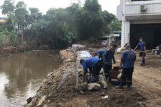 Tembok Plaza Bisnis Kemang Jebol, Sudin SDA Jaksel Sementara Bangun Bronjong Berkawat