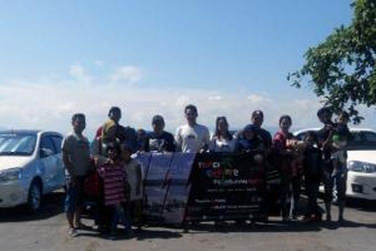 Toyota Etios Valco Club Indonesia (TEVCI) buktikan Etios Valco tak loyo di touring menuju Pantai Sawarna, Banten, Jawa Barat.