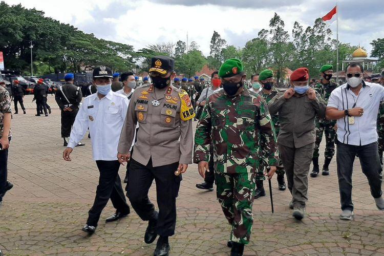 Pangdam III Siliwangi MayjenTNI Nugroho Budi Wiryanto  usai menghadiri apel kesiapsiagaan