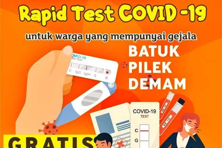 Pemerintah Kota (Pemkot) Batam kembali mengeluarkan kebijakan yang bermanfaat sebagai upaya menimalisir penyebaran, yakni Rapid Tes gratis untuk warga Batam.