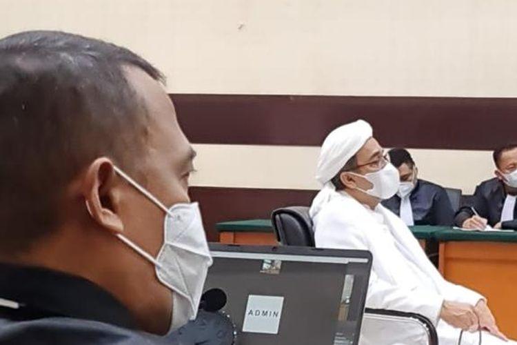 Sidang Rizieq Shihab di Pengadilan Negeri (PN) Jakarta Timur, Selasa (6/4/2021).