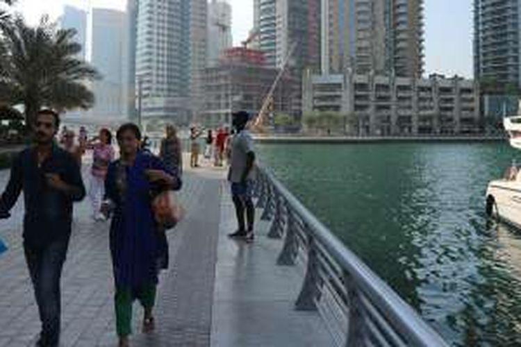 Marina di Dubai, Uni Emirat Arab.