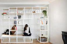 Rak Serbaguna untuk Buku, Pajangan, dan Tempat Duduk