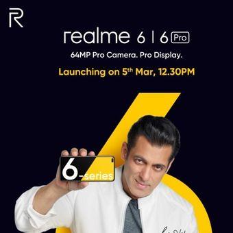Poster peluncuran Realme 6 dan Realme 6 Pro;