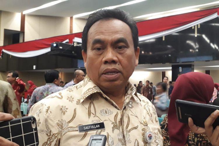 Sekretaris Daerah (Sekda) DKI Jakarta Saefullah di gedung DPRD DKI Jakarta, Jalan Kebon Sirih, Jakarta Pusat, Kamis (6/9/2018).