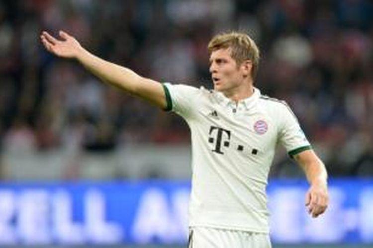 Gelandang Bayern Muenchen, Toni Kroos.