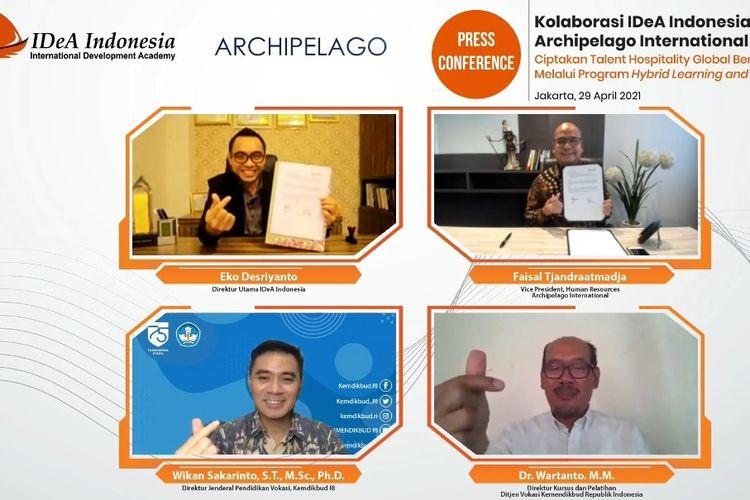 Kerjasama IDeA Indonesia dengan Archipelago International dalam meningkatkan sumber daya manusia (SDM) yang unggul.