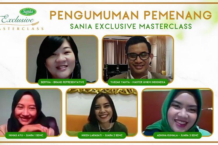 Pemenang Sania Exclusive Masterclass yang mendapat modal pengembangan usaha.