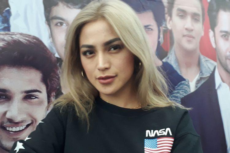 Jessica Iskandar di Studio ANTV, Kuningan, Jakarta Selatan, Selasa (8/5/2018)