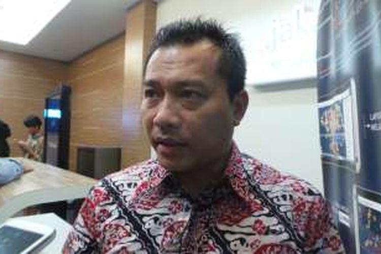 Politisi Partai Amanat Nasional (PAN) sekaligus musisi, Anang Hermansyah, saat ditemui di Balai Kota, Senin (11/4/2016).