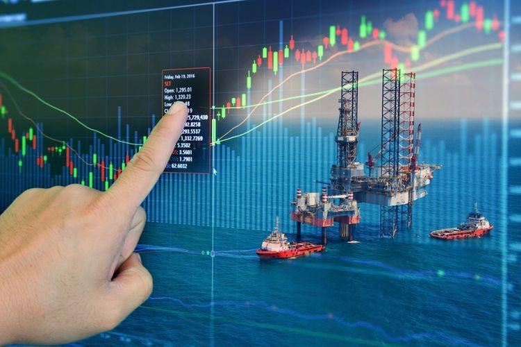 Ilustrasi industri minyak dan gas (migas)
