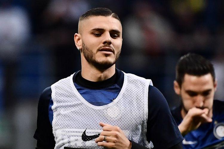 Penyerang Inter Milan asal Argentina, Mauro Icardi.