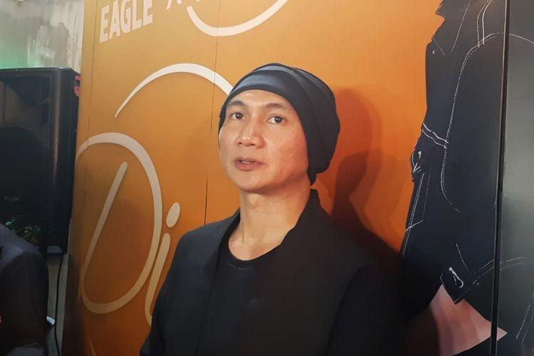 Penyanyi Anji saat ditemui di peluncuran Eagle x Anji di kawasan Kebayoran Baru, Jakarta Selatan, Selasa (22/10/2019).