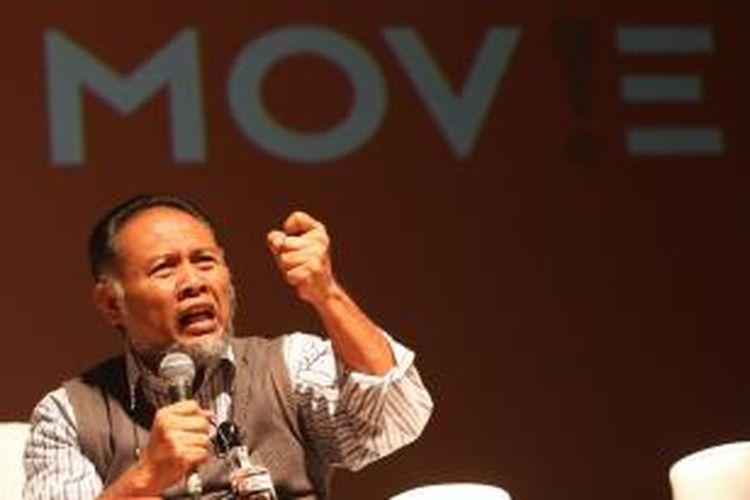 Wakil Ketua Komisi Pemberantasan Korupsi (KPK) Bambang Widjojanto menjadi pembicara dalam peluncuran Anti-Corruption Film Festival (ACFFest) 2015 di Pusat Perfilman Haji Usmar Ismail, Jakarta, Rabu (11/2/2015). ACFFest telah diselenggarakan sejak 2013, dengan menjaring para sineas muda yang memproduksi film bertemakan anti-korupsi.