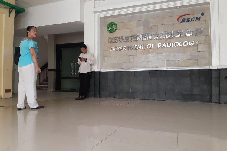 Suasana di Departemen Radiologi di  RSUP Nasional Dr Cipto Mangunkusumo (RSCM), Jakarta Pusat, Senin (24/2/2020)