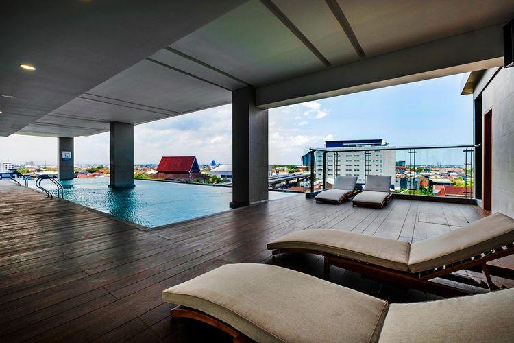 Infinity pool di Teraskita Hotel Makassar Managed by Dafam, sebuah hotel baru di Makassar yang mulai beroperasi pada Jumat (25/9/2020).