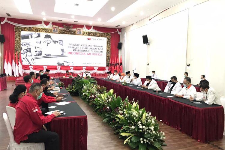 PKS dan PDI-P melakukan silaturahmi membahas sejumlah isu kebangsaan di Kantor DPP PDI-P, Jakarta, Selasa (27/4/2021) (sumber foro: Ketua DPP PKS Mardani Ali Sera)