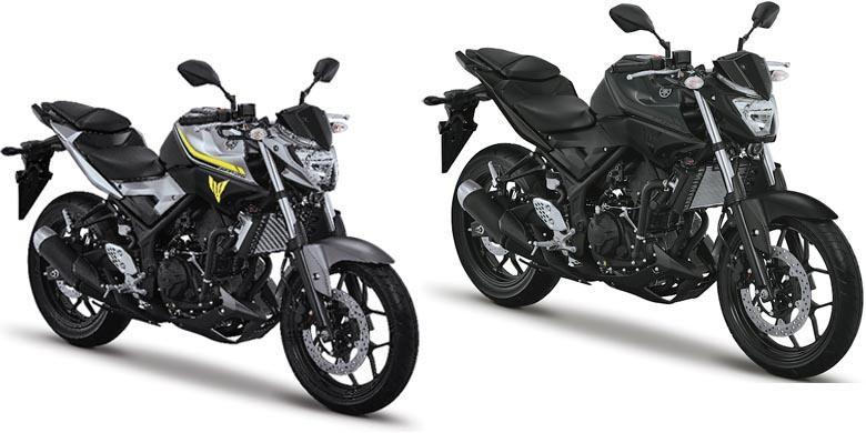 Warna baru 2017 Yamaha MT-25, Heroic Silver dan Black Silver.
