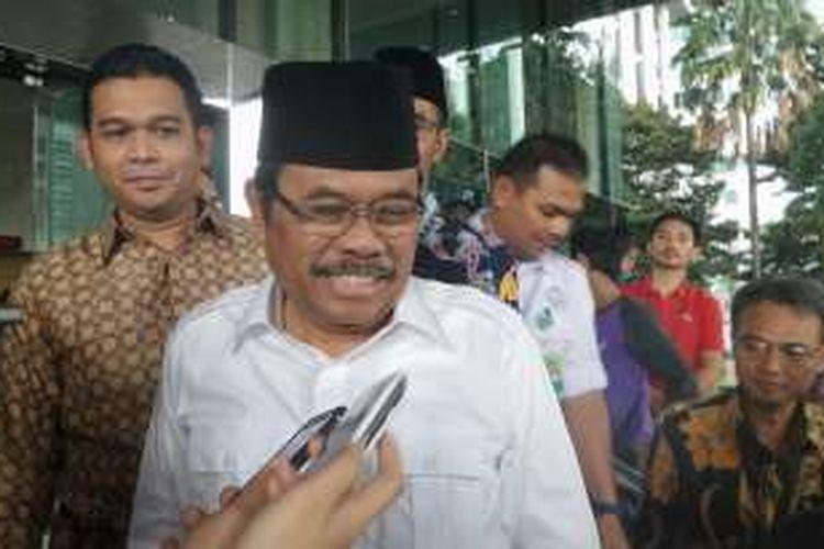 Jaksa Agung Muhammad Prasetyo saat menghadiri acara buka puasa bersama di gedung KPK, Jakarta Selatan, Kamis (23/6/2016).