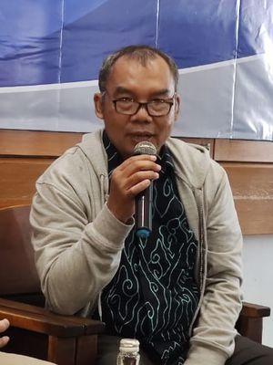 Sudaryatmo, Wakil Pengurus Harian YLKI di acara diskusi tentang Netflix di Jakarta, Kamis (16/1/2020).