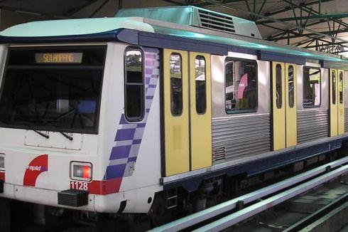 Kereta LRT Jakarta Gunakan