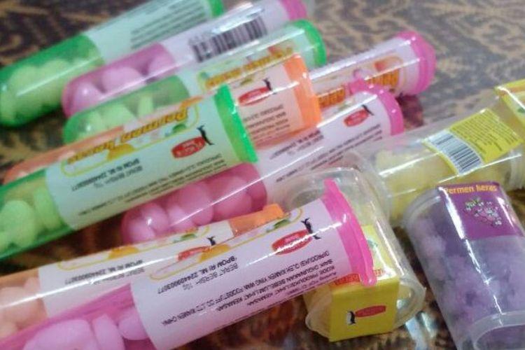 Permen yang diduga mengandung narkoba yang beredar di Surabaya