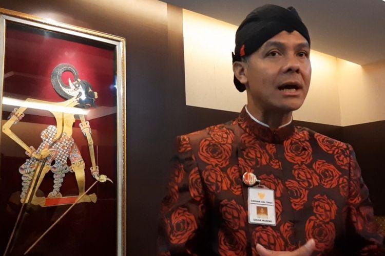 Gubernur Jawa Tengah Ganjar Pranowo saat ditemui di Kantor Gubernur Jateng, Semarang, Kamis (13/2/2020)