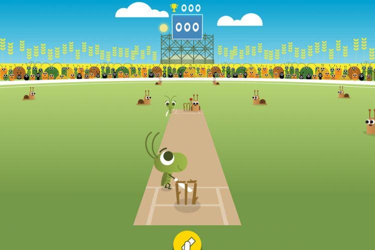 Salah satu doodle permainan bertema baseball yang ada di Google Doodle ulang tahun ke-19.