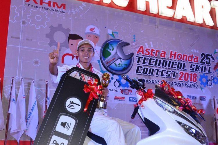 Mekanik DAM Masngudin, rebut gelar Astra Honda Technical Skill Contest 2018