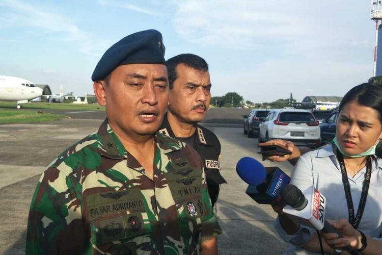Kepala Dinas Penerangan TNI AU Marsekal Pertama Fajar Adriyanto kepada awak media di Lapangan Udara Halim Perdanakusuma, Jakarta Timur, Rabu (29/1/2020).