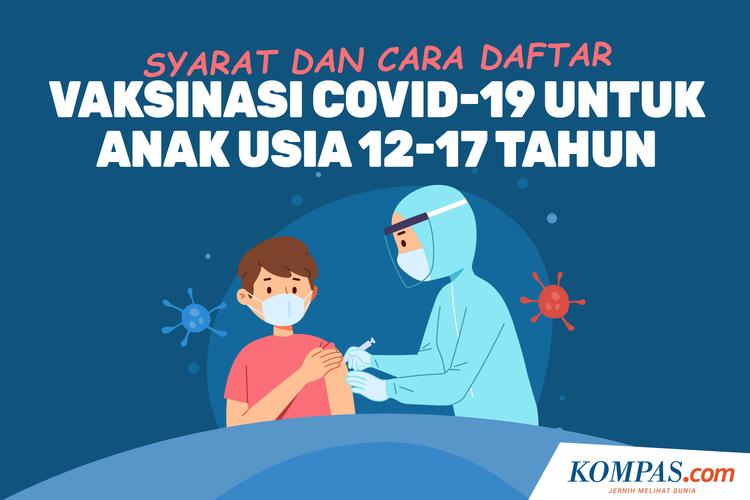 Syarat dan Cara Daftar Vaksinasi Covid-19 untuk Anak Usia 12-17 Tahun